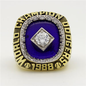 Los Angeles Dodgers 1988 World Series MLB Championship Ring With Blue Lapis Lazuli