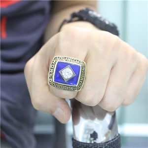 Los Angeles Dodgers 1981 World Series MLB Championship Ring With Blue Sapphire