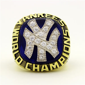 New York Yankees 1977 World Series MLB Championship Ring With Blue Lapis Lazuli