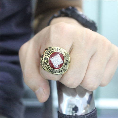 St. Louis Cardinals 1964 World Series MLB Championship Ring With Red Garnet