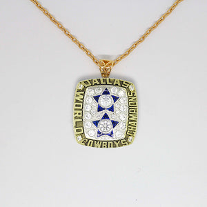 Dallas Cowboys 1977 Super Bowl XII NFL Championship Pendant with Chain