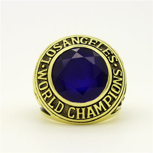 Los Angeles Dodgers 1963 World Series MLB Championship Ring With Blue Sapphire