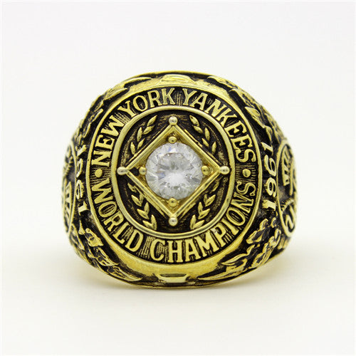 New York Yankees 1961 World Series MLB Championship Ring With Cubic Zirconia