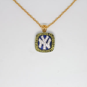 New York Yankees 1996 World Series MLB Championship Pendant with Chain