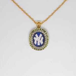 New York Yankees 1998 World Series MLB Championship Pendant with Chain