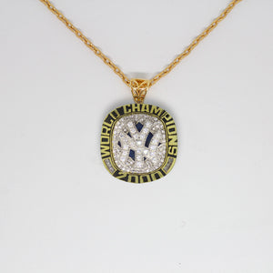 New York Yankees 2000 World Series MLB Championship Pendant with Chain