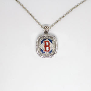 Boston Red Sox 2004 World Series MLB Championship Pendant with Chain