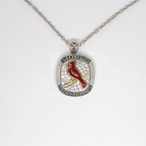 St. Louis Cardinals 2011 World Series MLB Championship Pendant with Chain