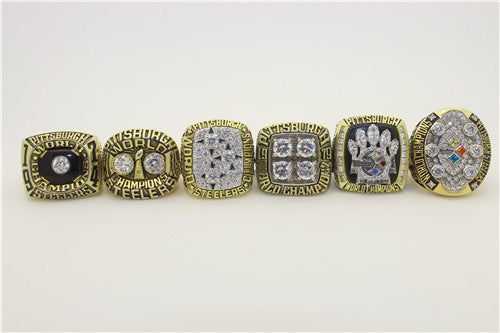 Pittsburgh Steelers 1974-1975-1978-1979-2005-2008 Super Sowl Championship Ring Collection