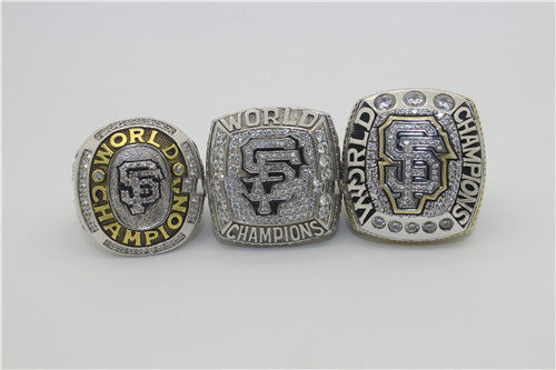 an Francisco Giants 2010-2012-2014 World Series MLB Championship Ring Collection