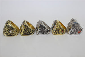 BC Lions 1994-1999-2000-2006-2011 Grey Cup Championship Ring Collection
