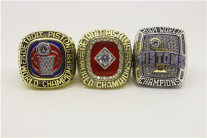 Detroit Pistons 1989-1990-2004 NBA Finals National Basketball World Championship Ring Collection