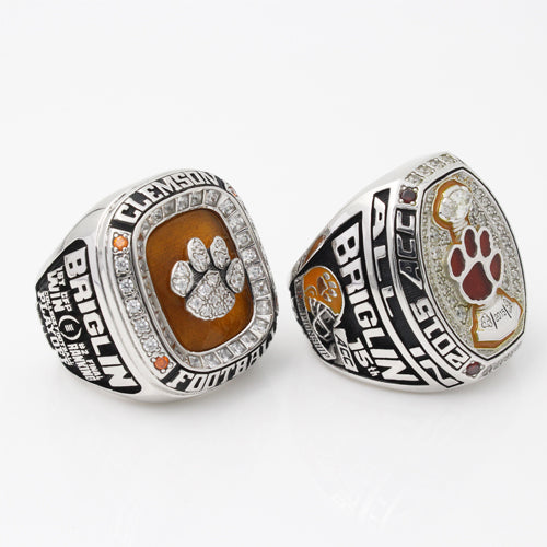 Clemson Tigers 2015 Orange Bowl & ACC Championship Ring Ring Collection