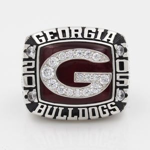 Georgia Bulldogs 2005 Outback Bowl Championship Ring With Red Ruby