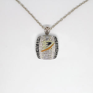 Anaheim Ducks 2007 Stanley Cup Finals NHL Championship Pendant with Chain