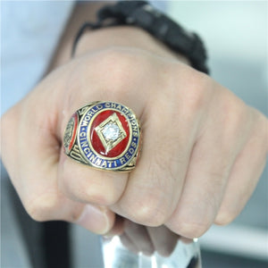 Cincinnati Reds 1940 World Series MLB Championship Ring With Red Ruby