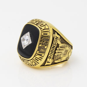 Baltimore Orioles 1966 World Series MLB Championship Ring With Black Obsidian