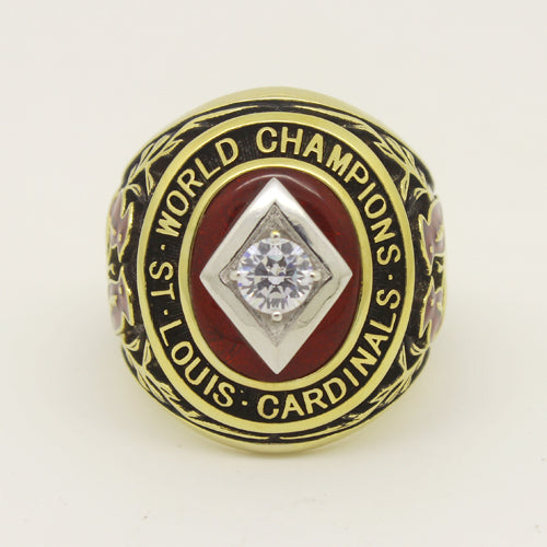 St. Louis Cardinals 1934 World Series MLB Championship Ring With Red Ruby