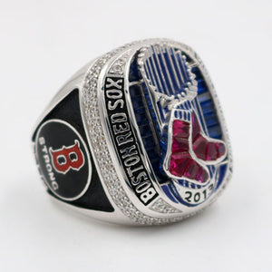 Boston Red Sox 2013 World Series MLB Championship Ring With Synthetic Sapphire & Red Ruby