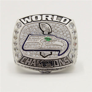 Custom Seattle Seahawks 2013 NFL Super Bowl XLVIII Championship Ring