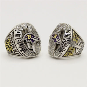 Custom Baltimore Ravens 2012 NFL Super Bowl XLVII Championship Ring
