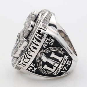 Super Bowl LI 2016 New England Patriots Championship Ring With Navy Blue Synthetic Sapphire