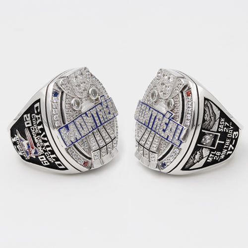 Custom Montreal Alouettes 2009 CFL 97th Grey Cup Championship Ring