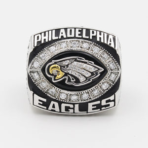 Philadelphia Eagles 2004 National Football Championship Ring With Black Obsidian