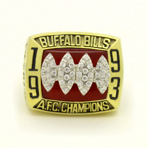 Buffalo Bills 1993 American Football Championship Ring With Red Ruby