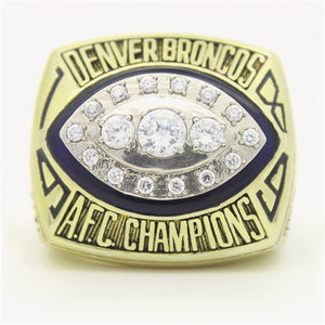 Denver Broncos 1989 American Football Championship Ring With Blue Lapis Lazuli