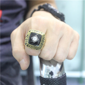 Cincinnati Bengals 1981 American Football Championship Ring With Black Obsidian