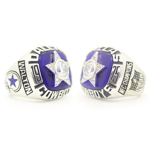 Dallas Cowboys 1975 National Football Championship Ring With Blue Sapphire