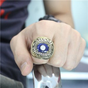 Miami Dolphins 1971 American Football Championship Ring With Blue Sapphire