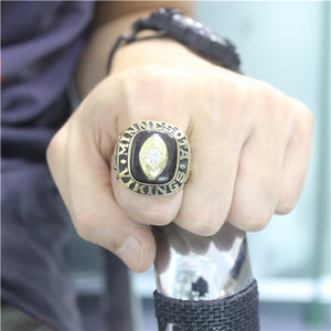 Minnesota Vikings 1969 National Football Championship Ring With Black Obsidian