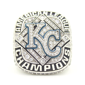 Custom Kansas City Royals 2014 American League Championship Ring With Blue Aquamarine