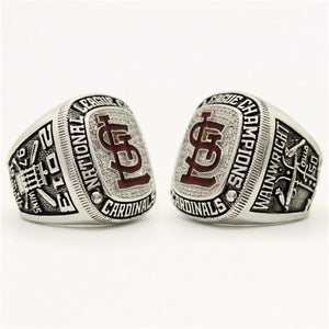 Custom St. Louis Cardinals 2013 National League Championship Ring With Red Garnet