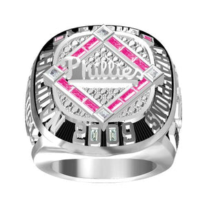 Custom Philadelphia Phillies 2009 National League Championship Ring With Red Ruby