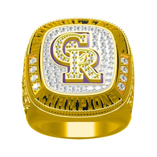 Custom Colorado Rockies 2007 National League Championship Ring With 18K Gold