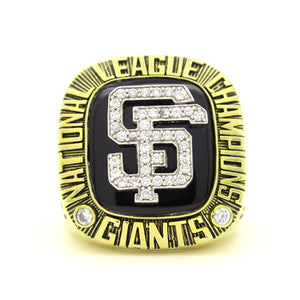 Custom San Francisco Giants 2002 National League Championship Ring With 18K Gold