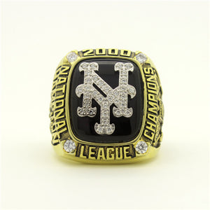 Custom New York Mets 2000 National League Championship Ring With White Rock Crystal