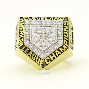 Custom Cleveland Indians 1997 American League Championship Ring With White Rock Crystal