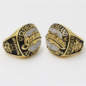 Custom Cleveland Indians 1995 American League Championship Ring With 18K Gold