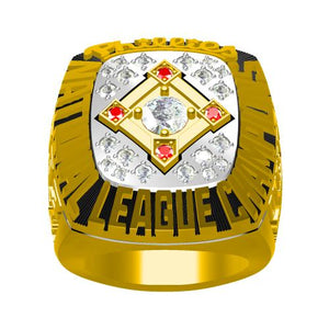 Custom Philadelphia Phillies 1993 National League Championship Ring With Red Ruby