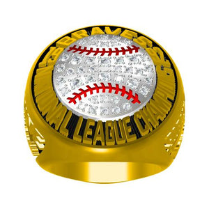 Custom Atlanta Braves 1992 National League Championship Ring With Red Garnet