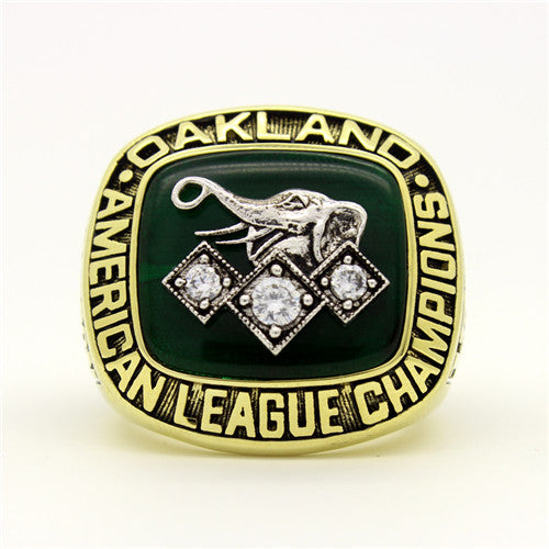 Custom Oakland Athletics 1990 American League Championship Ring With White Rock Crystal