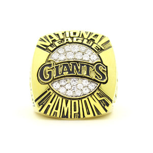 Custom San Francisco Giants 1989 National League Championship Ring With 18K Gold