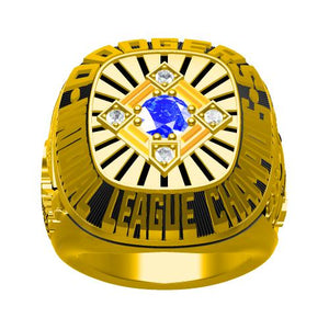 Custom Los Angeles Dodgers 1977 National League Championship Ring With Blue Crystal
