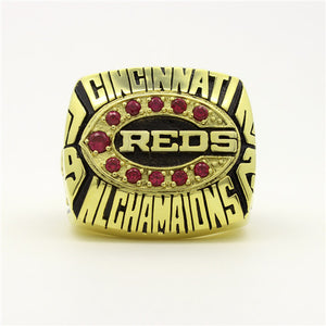 Custom Cincinnati Reds 1972 National League Championship Ring With Red Ruby