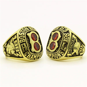 Custom Boston Red Sox 1967 American League Championship Ring With Red Ruby