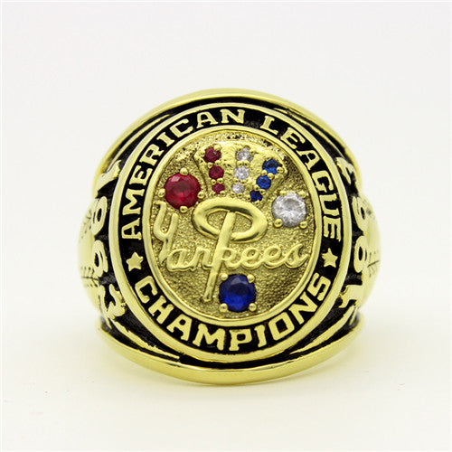 New York Yankees 1963 American League Championship Ring with Red Ruby and Blue Sapphire